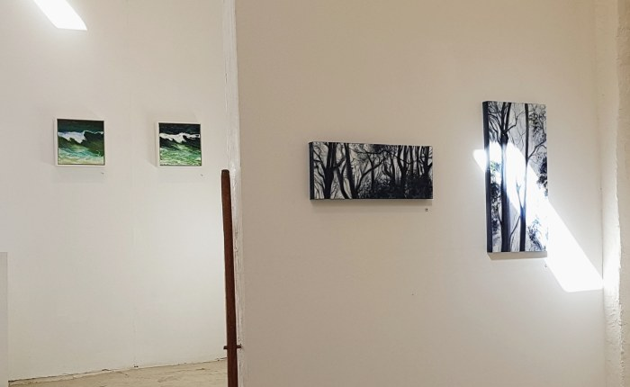 The forest meets the sea at the Sheffer Gallery. Wed-Sat, 11-5. Artworks by Georgia Freebody and Gay Adele Emmerson